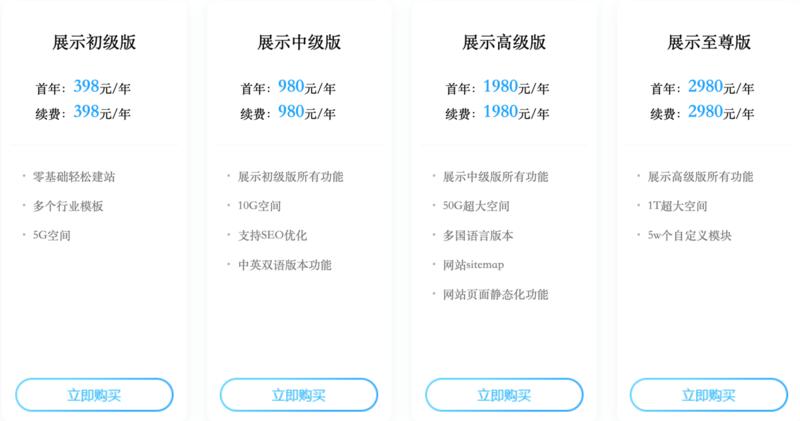 中英文网站多少钱